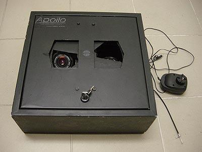 Rysunek 4 Stacja fotograficzna Apollo skonstruowana przez Przemysława Żołądka i składająca się z dwóch aparatów Praktica z obiektywami 2.8/29mm.